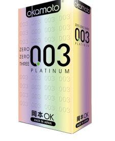 【岡本】003避孕套(白金超薄裝)  10片